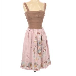 M Missoni Fit and Flare Floral Skirt Silk Dress